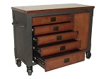Duramax TC68005 Rolling 5-Drawer Storage Wood Top Tool Chest