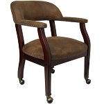 Conference Chairs B-Z100-BRN-GG Brown Microfiber Chair with Casters