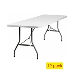 Plastic Banquet Tables - ACT Bm-3096 Gray 8 ft. Table Top - 12 Pack
