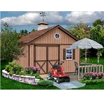 Brandon 12x12 Best Barns Wood Shed Barn Kit