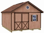 Brandon 12' Best Barns Wood Shed Kit in 12x12 and 12x16