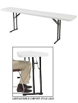 Folding Seminar Table Bt1872 National Public Seating Gray 18x72 In