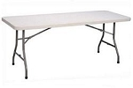 Correll Folding Tables Gray Blow-Molded Plastic Table CP3060 30x60 in