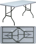 Gray Plastic Folding Tables Flash Furniture DAD-YCZ-152-GG 20 Pack