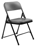 National Public Seating 4-Pack 820 Series NPS Black/Charcoal Plastic Folding Chair