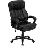 Hercules Leather Executive Chair GO-1097-BK-LEA-GG Pillow Top Office