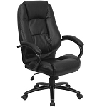 Leather Executive Office Chair - GO-710-BK-GG Black Task Chair