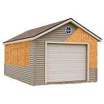 Best Barns Greenbriar 12'x24' Wood Garage Barn Kit