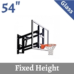 Goalsetter Wall-Mount Fixed-Height Basketball Hoop GS54 54 Glass Goal