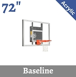 Goalsetter Base Line GS72 Wall-Mount Basketball Hoop 72 In Acrylic