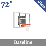 Goalsetter Baseline GS72 Wall-Mount Basketball Hoop 72 In Glass
