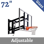Goalsetter Basketball GS72GA Adjustable Wall-Mount Basketball 72 Glass Backboard