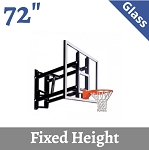 Goalsetter Wall Mount Basketball Backboard GS72GF Fix-Height 72 Glass