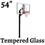 Goalsetter Elite Plus Basketball System 54-Inch Glass Backboard In Ground Goal