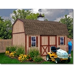 (discontinued) Homestead 12'x16' Best Barns Wood Shed Barn Kit