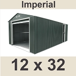 55261, 55251, 55231 Duramax Imperial Metal Garage Shed - 12x32 Storage Building