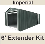54961 Imperial Metal Garage Green 6' Extension Kit for 50961, 55161, 55261