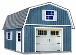 Best Barns Jefferson 16' wide 2-Story Wood Shed Barn Kit with Stairs