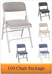Metal Folding Chairs - ACT Mc309af Upholstered Premium Seat - 100 Pack
