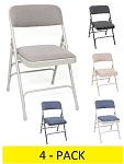 Metal Folding Chairs - ACT Upholstered Mc309af Premium Seat - 4 Pack