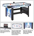 Carmelli Table Hockey Table NG1009H 5-Ft Air Powered Hockey Game Table