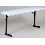 Correll Folding Seminar Tables R1872TL T-Leg Blow-Molded Plastic