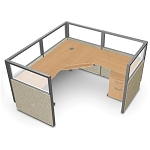 OFM Rize Work Stations - R1X1-4772-P 1x1 Cubicle Work System