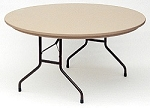 Correll Round Folding Tables R60 60 in. Blow-Molded Heavy-Duty Table