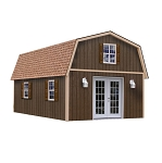 Best Barns Richmond 16' Wide 20-32' Long 2-Story Wood Shed Kit