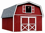 Roanoke 16' Best Barn Wood Shed Kit in 20,' 24', 28', and 32'