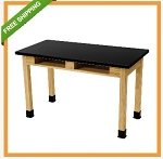 Nps 4' Science Lab Table - Black Chemsurf Top