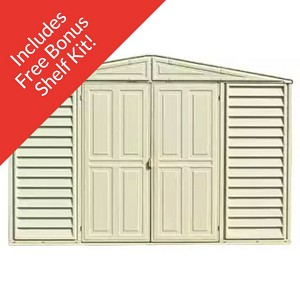 WoodBridge 10.5 x 10.5 Vinyl Shed with Foundation