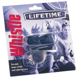 Lifetime Basketball Accessories - Brass Whistle with Lanyard