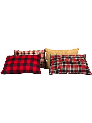 TETON Sports XL 18 In x12 In Camp Pillow with Flannel Pillowcase