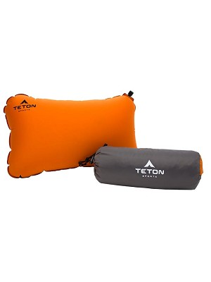 TETON Sports 1039 ComfortLite 18 x 10 x 4 Selfflating Orange Pillow
