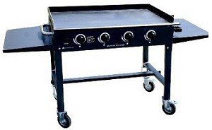 Blackstone Portable Commercial 36 In Gas Griddle Grill, Cast Iron 1554