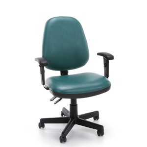 OFM Office Chairs 119-Vam-Aa Adjustable Task Vinyl Chair With Arms