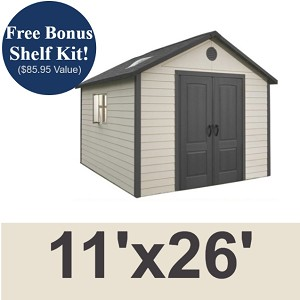 Lifetime 11x26 Storage Shed