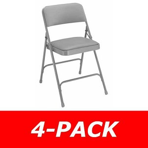 4-Pack 1200 Series Vinyl NPS Padded Folding Chairs