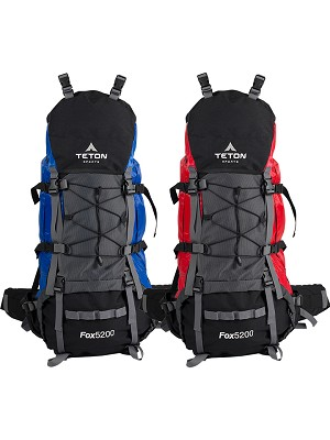 TETON Sports 122/123 Fox5200 Internal Frame Lightweight High Capacity Backpack