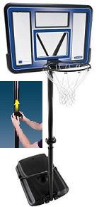 SO 1514 Lifetime 42 Inch Fusion Backboard Portable Basketball System
