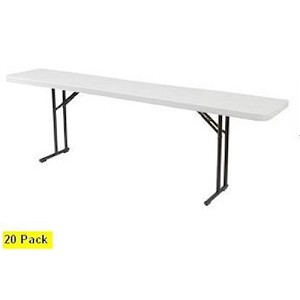 20 Folding Seminar Tables National Public Seating Bt1872 72x18 Top