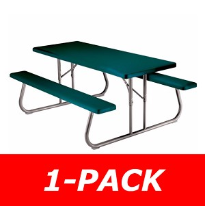 Lifetime Picnic Table - 22123 Hunter Green 6-Foot Foldable Table