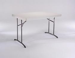 SO Lifetime Products 22640 4 Ft Folding Table Almond Table Top