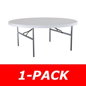 Lifetime 22673 6' Round Table 1 Pack with White Granite Color Top