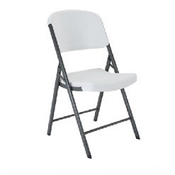 Lifetime Folding Chairs 22803 Lightweight Almond Plastic Chair 32 Pack