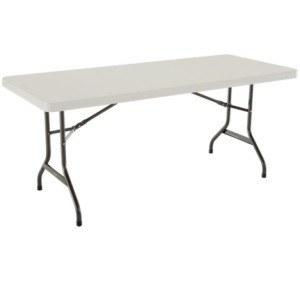 Lifetime 6' Rectangular Table 1 Pack with Almond Color Top