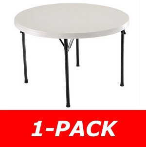 Lifetime Round Table 22968 46 in. Almond Top With Folding Legs