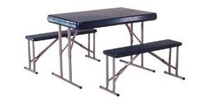 SO 2400 12 PACK 4 ft Folding Camping Sport Tables & Bench Set