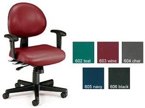 Ofm 241-Vam-Aa 24 Hr. Computer Multi-Shift Adjustable Vinyl Task Chair